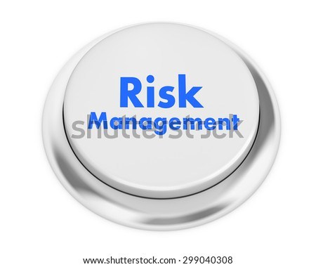 Risk Management button on isolate white background