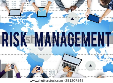 Risk Management Control Analysis Protection Concept - stock photo