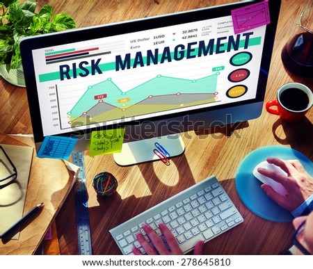 Risk Management Insurance Protection Safety Concept - stock photo