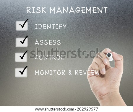 risk management with hand writing