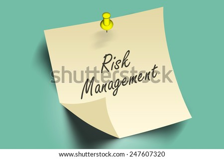 risk management words on note paper  - stock photo
