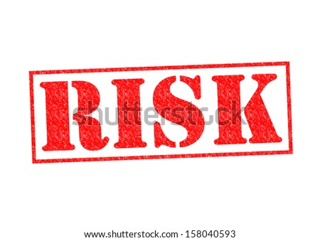 RISK Rubber Stamp over a white background.