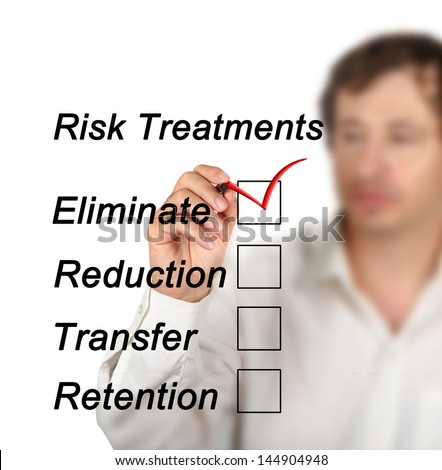 Risk treatments - stock photo