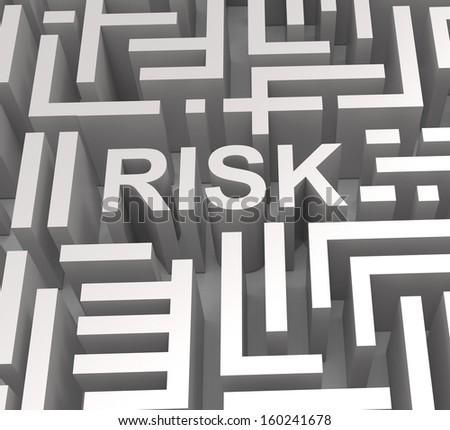 Risky Maze Shows Dangerous Unstable Or Risk - stock photo