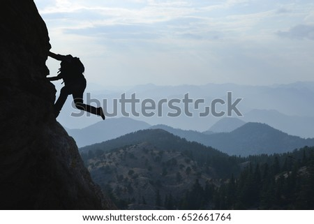 Risky rock climbing and fascinating landscape