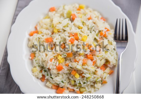 Risotto with carrots  - stock photo