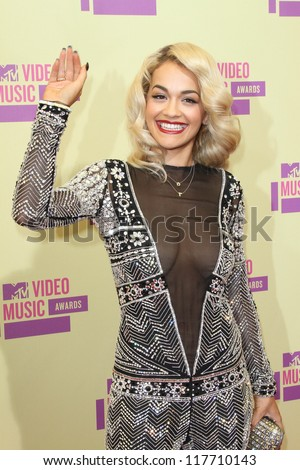 Rita Ora at the 2012 Video Music Awards Arrivals, Staples Center, Los Angeles, CA 09-06-12