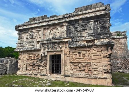 Ritual building in Chichen Itza, Mexico - stock photo