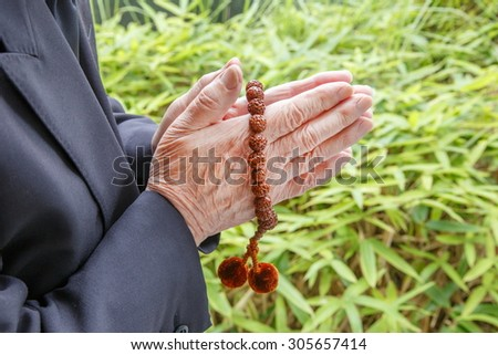 Ritual of Japanese Buddhism - stock photo