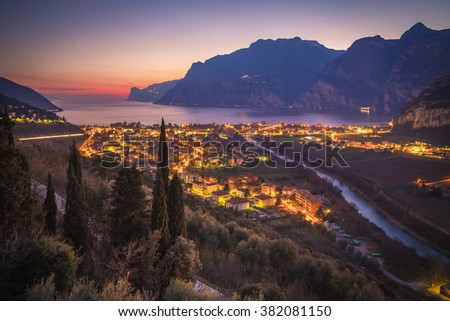 Riva del Garda, Garda Lake, Lombardy, Italy - stock photo