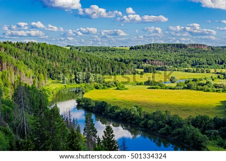 river and forest landscape