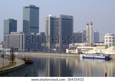 River and World Trade Center in Moscow