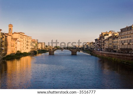 River Arno in Florence.