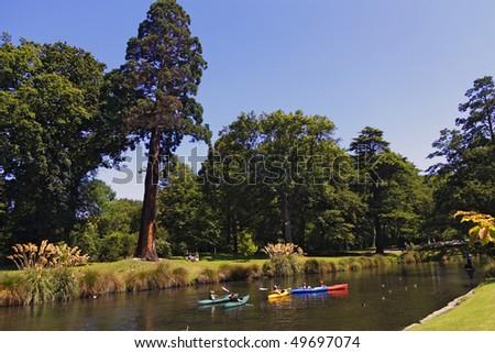 River Avon,christchurch,new zealand - stock photo