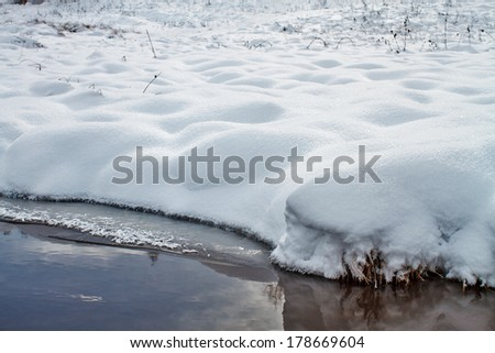 River bank in winter