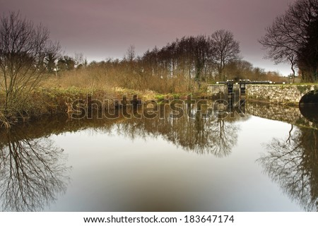 River Barrow in Carlow in Ireland Europe - stock photo