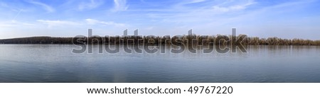 River Danube at early spring extra large panoramic image