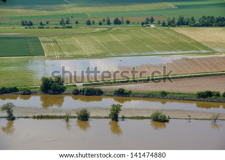 River Danube / Donau in Bavaria after the recort flood in june 2013