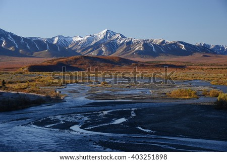 river delta in denali national park alaska