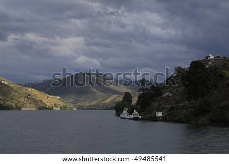 River  Douro - Regua city - Portugal - Europe - stock photo