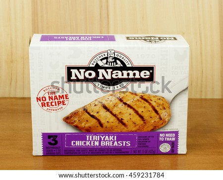 RIVER FALLS,WISCONSIN-JULY 27,2016: A box of No Name brand frozen Teriyaki chicken breasts. - stock photo