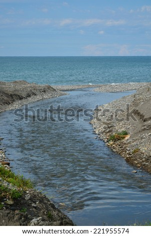 River flowing into the Black Sea