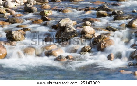 river flowing over rocks