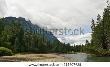River - Glacier National Park  - stock photo
