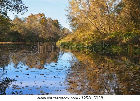River in an autumn season.