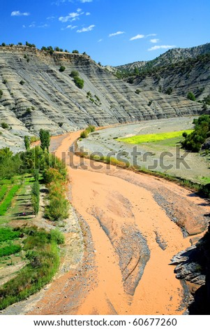 River in Atlas Mountains, Africa - stock photo