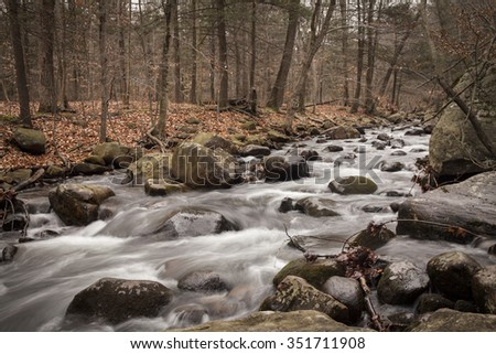 River in bear mountain state park - stock photo