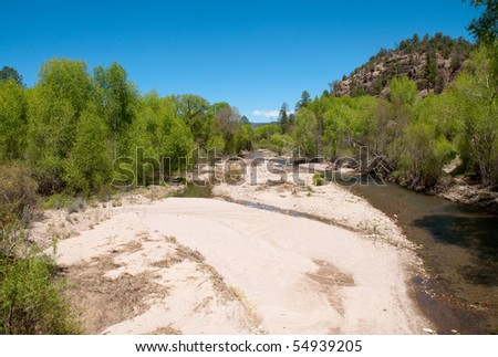 river in Gila National Forest