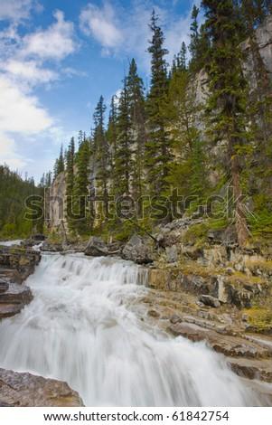 River in Jasper National Park - stock photo