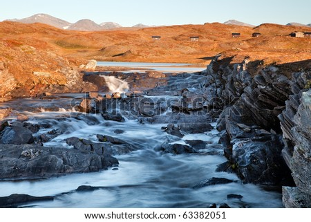 River in light and Shadow - stock photo