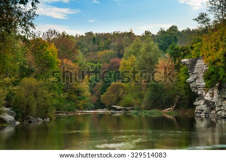River in mountain canyon