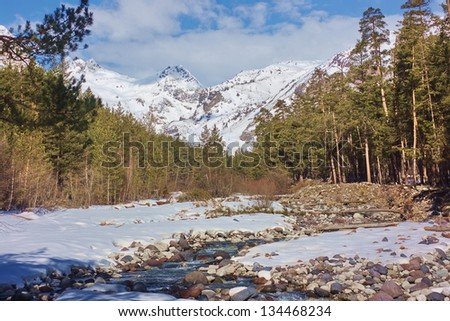 River in mountains