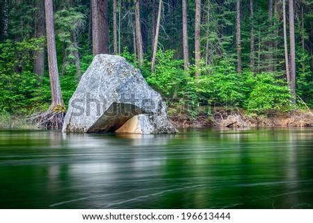 River in Yosemite National Park - stock photo