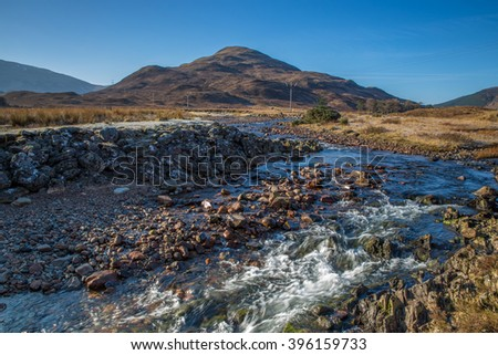 River Kiachnish on the West Highland Way