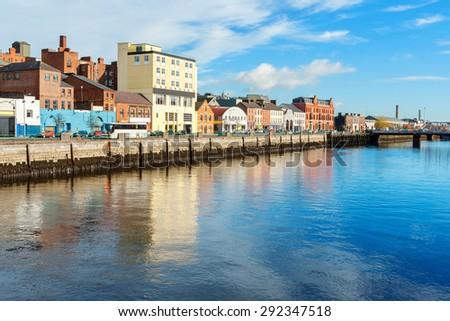 River Lee. Cork city, county Cork, Ireland - stock photo