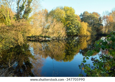 River mirror refection.