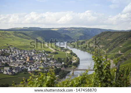 River Mosel in Germany  - stock photo