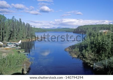 River near Talkeetna, Alaska - stock photo