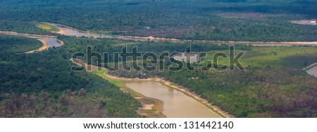 River of Amazon on the Peru part