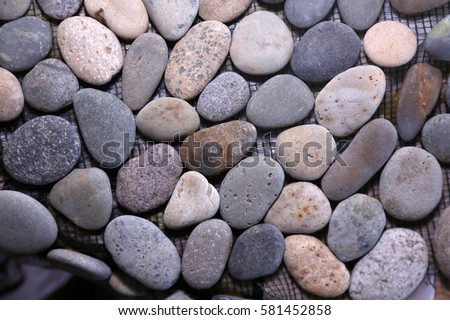river rock river rock tile close up of floor or wall tile made