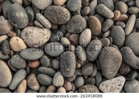 River Rocks background - stock photo