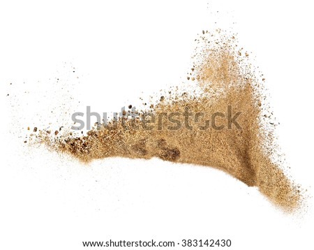 River sand explosion - stock photo