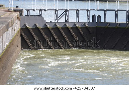 River Sluice Gate Detail