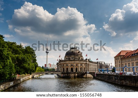 River Spree and Museum Island, Berlin, Germany - stock photo