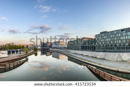 River Spree and office building of the German Parliament - Berlin, Germany - stock photo