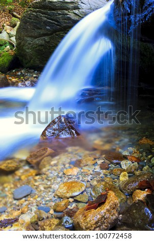 river story of the waterfalls - stock photo